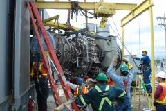 Clover Bar turbine installation aug 07